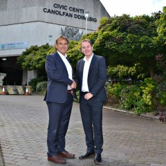 News Image:An exciting new partnership is to see Swansea University's School of Management expand into part of the Civic Centre