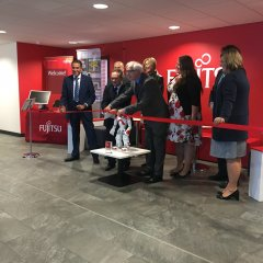 News Image:Global tech firm Fujitsu opens Innovation Hub at Swansea University's £450million Bay Campus